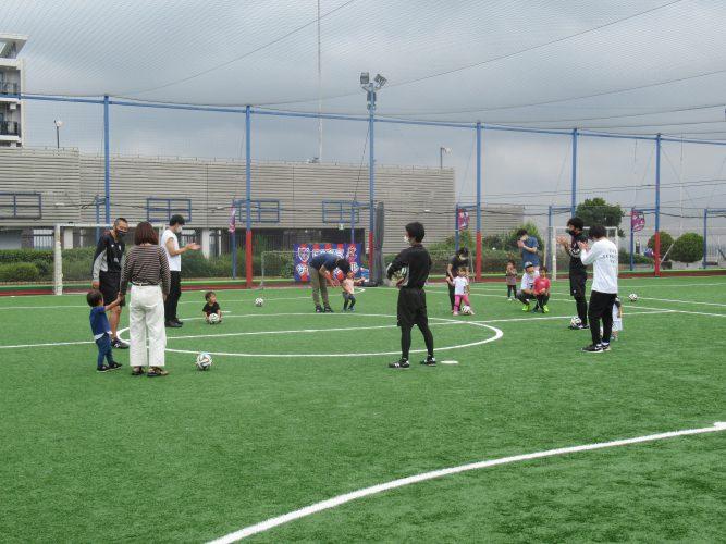 親子でサッカーしてきました!の画像